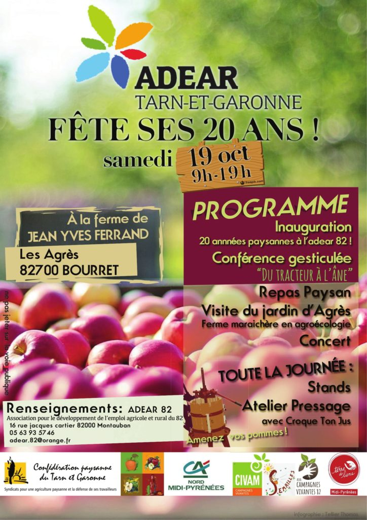 Campagnes Vivantes 82 partenaire de l'Adear