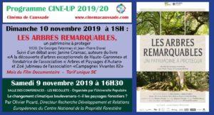 """Projection-débat """"les arbres remarquables, un patrimoine à protéger"""" à Caussade"""
