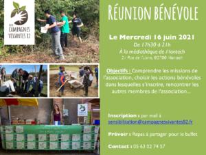 Réunion Bénévoles 2021 @ Médiathèque de Montech